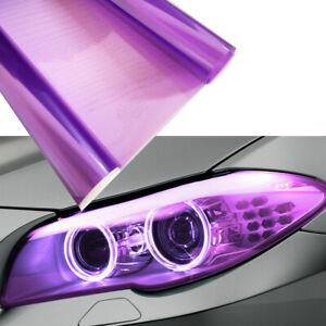 "2x 12""x48"" Gloss Purple Headlight Lamp Taillight Fog Light Tint Film Vinyl Decal"