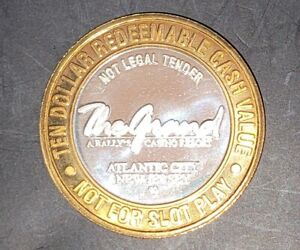 The Grand Casino .999 Ten Dollar 10$ Silver Strike Token AC New Jersey #9100