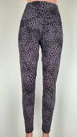 LYSSE Womens Cheetah Print Denim Pants Highrise Stretch Elastic Waist Black XL