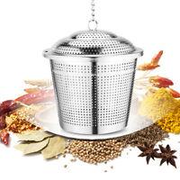 Stainless Steel Loose Tea Leaf Strainer Herbal Spice Infuser Filter Diffuser S