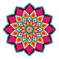 Colourful Mandala Design Sticker Decor Car, Van, Fridge, Laptop, Wall Art Decal