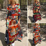 VONDA Women Loose Printed Long Sleeve Party Club Dresses Vintage Maxi Dress New