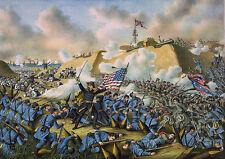 Sheridan/'s Ride American Civil War Painting US Patriot Real Canvas Art Print New