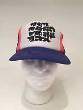 True Vintage Possibly Korean Writing SnapBack Trucker Hat Very Cool Hipster