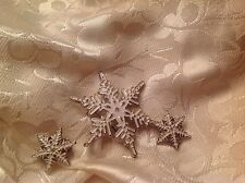 vintage Christmas pin set snowflake