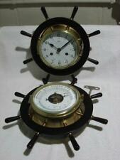 Schatz Royal Marine 8 Day Ship's Bell Brass Clock & Compensated Barometer