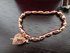 Gorgeous 100% Authentic Juicy Couture Rose Gold Bling Beaded Heart Bracelet BNIB