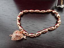 Splendido 100% Autentico Juicy Couture ROSE GOLD Bling con perline cuore braccialetto nuovo con scatola
