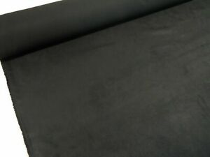 Black Suede Suedette Luxury Quality Alcantara Style Fabric Material Upholstery