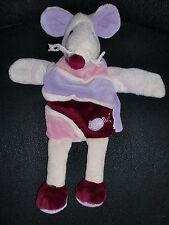 doudou marionnette souris mauve violet rose BABY NAT' babynat (2 dispo)