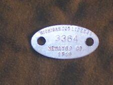 Vintage Dog License Tax Tag Newaygo County Michigan MI 1969   #3364     da19
