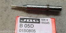 PUNTA Soldar 1,0 mm Soldadura Estaño B 05D Soldador JBC mod 14S 14ST ref 0150805