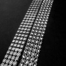 4 Row Acrylic Rhinestone Diamond Cake Ribbon Banding  Wedding Cake Candles 2 Yd