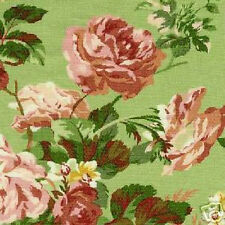 2 YDS Timeless Treasures SPRINGFIELD Floral & Stripe QUILT FABRIC SET Green