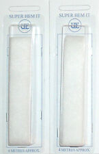 IRON ON HEMMING WEB WONDERWEB 20MM WIDE 2 X 4 METRE PACKS, FREE P&P