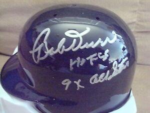 Bobby Doerr AUTOGRAPH BOSTON RED SOX Mini Helmet SIGNED HOF 86 & 9X ALL-STAR