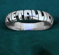 METALLICA STERLING SILVER name Ring,ANY SIZE