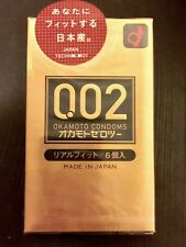 Okamoto 002 Zero Zero Two Real Fit Ultra Thin 0.02 mm Condom 6pcs(US Seller)
