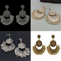 Charming Boho Ethnic Tassel Coin Drop Dangle Vintage Earrings Jewelry Women Gift
