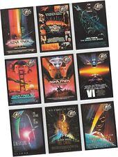 "Star Trek Cinema 2000: 9 Card ""Movie Posters"" Chase Set P1-P9 - Skybox 2000"