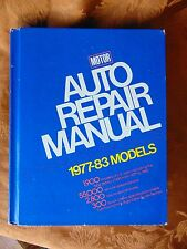 Motor Auto Repair Manual 1977-83 Models HC 46th Edition Hardbound Good Cond.