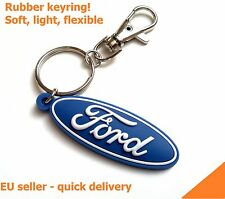 Ford keyring Fiesta Focus Transit rubber fob logo key chain - light soft PVC