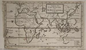 DAMPIER'S WORLD TRAVEL 1712 DAMPIER UNUSUAL ANTIQUE COPPER ENGRAVED CHART