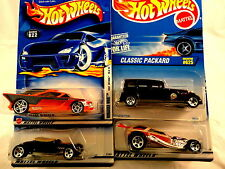 LOT OF 4  HOT WHEELS  NOMADDER WHAT , TRACK T , CLASSIC PACKARD ,  SURF CRATE