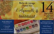 Aquarelle Sennelier Coffret 14 Demi godets