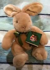 "VTG Harrods Spiegel Fluffy Plush Bunny Floppy Ears Pink Nose 12""  New w/ Tags B7"