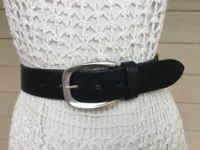 POST & CO italy EXOTiC EMBOSSED BLACK LEATHER DRESS BELT - XL