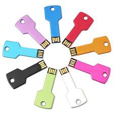 Metal Key USB Thumb Storage Memory Stick Flash Drive 1GB U Disk D1T9
