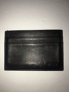 Tumi ID Slip Wallet Black Leathers Small