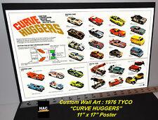 "Custom TYCO Wall Art - 1976 TYCO ""CURVE HUGGER Cars""  11T x 17W Hi QA POSTER"