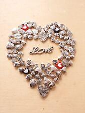 100 x Herz Perlen ♥ Beads/Spacer zur Schmuckherstellung * Basteln Deko Zubehör