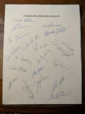 Team signed 1970 Detroit Tigers 8 x 11 letter paper 20 auto's great! W/ Kaline