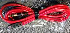 Genuine 3.5mm L Shape Audio Cable Cord for Beats by Dr Dre Headphones Aux -RED
