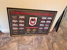 ST GEORGE ILLAWARRA DRAGONS NRL Historical Series Limited Premiers Print Framed