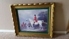 William / Henry Barraud Fox Hunting Scene Lithograph Print Signed Dated 1865
