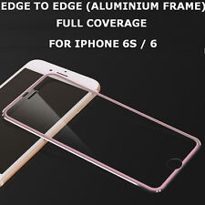 Tempered Glass Screen Protector Aluminium Edge to Edge Pink for iPhone 7 Plus