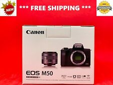 **BRAND NEW** Canon EOS M50 MIRRORLESS Digital CAMERA EF-M15-45mm IS STM Kit