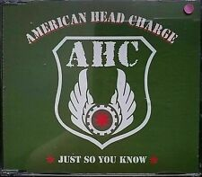American Head Charge - Just So You Know (1Track CD Single) PROMO NEW