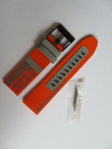 DIESEL Original Ersatzband Nylon DZ1933 Uhrband orange watch strap 24 mm