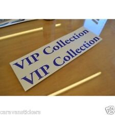 HOBBY 'VIP Collection' Caravan Name Sticker Decal Graphic - PAIR