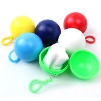 Disposable Emergency Waterproof Key ring Ball Rain Coat Poncho Rain wear Ra Re