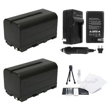 2X NP-F750 Replacement Battery + Charger + BONUS for Sony CCD-DC55 DC65 TR516