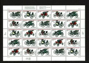 Antique Automobiles- Collection of 5 Plate Block of 25 stamps 1995 Issue