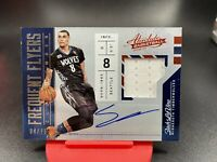 2016-17 Panini Absolute Zach LaVine Frequent Flyers Auto Patch SP To /75