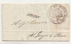 Vorphila Letter Bologna Nac S.Giorgio Market Stall Calculation Permisson 1847 (