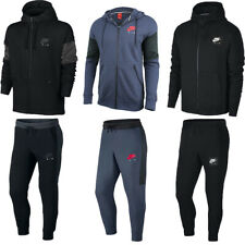 Nike Mens Tracksuit Air Fleece Hoodie Joggers Sweatpants Hoody Bottoms Black